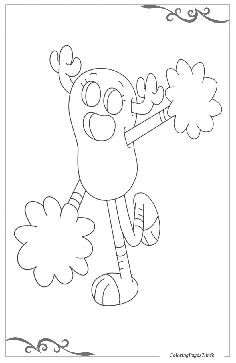 Here is The Amazing World of Gumball Coloring Page! Click the ... | 1270x827